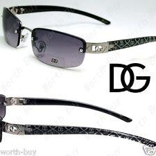 New DG Rimless Small Rectangular Womens Sunglasses Shade Classic Black Designer
