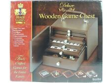 Deluxe Wooden 7-Game Chest: Chess, Checkers, Solitaire, Dice, Backgammon...