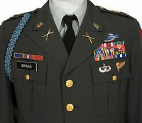CLASS A TROPICAL ARMY GREEN 344 DRESS 39S JACKET UNIT PATCH POLY WOOL BLEND