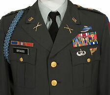 CLASS A 101st AIRBORNE POLY Serge GREEN Army 40R Jacket & Rank / Service Stripes