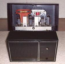 Vintage TRANSMITTER - RECEIVER radio cabinet case kit tube transistor AM FM SW