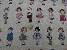 Tissu patchwork Poupées en papier  Vintage rétro acheté aux USA