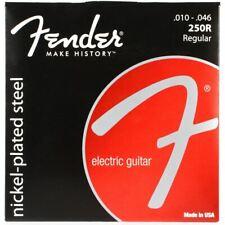 Jeu de cordes 250R FENDER - 10 à 46 - réf: 073-0250-406 pour guitare électrique