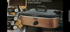 Prime Cuisine 3.5 quart Casserole slow cooker
