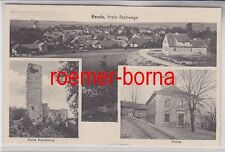 63327 Mehrbild Ak Renda Kreis Eschwege Kirche, Ruine Totalansicht 1938