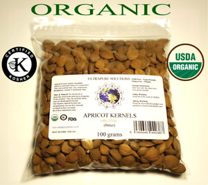 ORGANIC BITTER APRICOT KERNELS Certified Kosher and Naturally Dried 100g To 1Kg