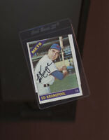 Ed Kranepool New York Mets signed 1966 Topps card  Beckett authenticated
