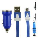 Trio Confezione Micro USB,Caricabatteria Da Auto,Mini Penna Stilo per Bouygues