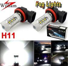 2x H11 Xenon White 80W High Power LED Fog Light Bulb For Mazda CX 5 7 9 RX8 MPV