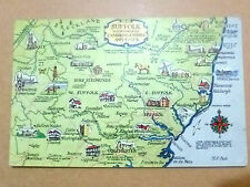 Postcard- SUFFOLK WITH PARTS OF CAMBRIDGESHIRE & ESSEX,Suffolk + Stamp