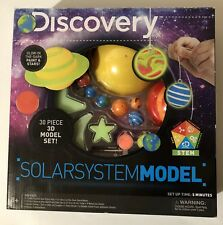 New Discovery Kids 3D Glowing Solar System - 30 Piece Model Set + Bonus Poster