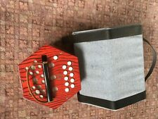 Concertina with case and instruction books