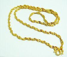 22K 23K 24K THAI BAHT YELLOW GP  NECKLACE Jewelry Gold 4.59 G. No.73
