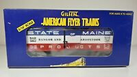American Flyer by Lionel 6-48333 State of Maine Bangor & Aroostook Boxcar NIB