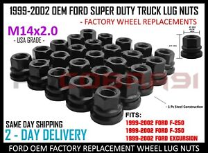 Black Ford Super Duty Replacement Lug Nuts For 1999-2002 F-250 F-350 Excursion