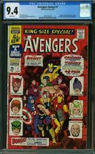 Avengers Annual #1 CGC 9.4 Marvel 1967 Iron Man! Thor! Key Silver! K8 203 cm cl
