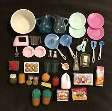 """Lot Of Our Generation 18"""" Doll Food & Dishes Cookware Battat CT"""