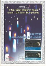 Israel Souvenir Leaf Holocaust Day Joint Issue Israel UN Year 2008