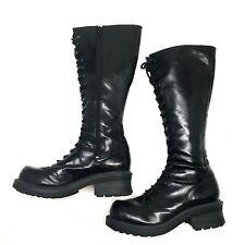 Na Na Gothic Women's Sz 11 Boots 90's Grunge Goth Tall Lace Up Black Nana
