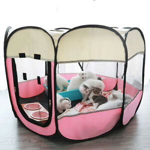 Dog tent portable house breathable outdoor kennel fence pet cat delivery room