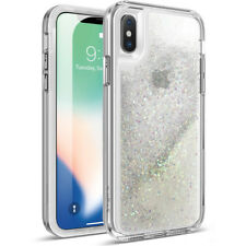 Poetic For iPhone X Rugged Case [Cascade]Liquid Glitter Cover Iridescent Diamond