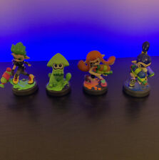 Splatoon Amiibo Lot - Inkling Girl, Squid, Blue Inkling Boy, Green Inkling Boy