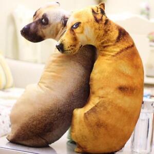 Pillow Dog Shape Cushion Throw Toy Gift 3d Animal Sofa Creative Plush Home Decor