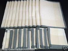 LE JACQUARD FRANCAIS Ottoman Linen Napkins & Placemats, Mother of Pearl; Set 6