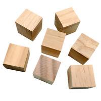 20 pcs Holzwürfel Natürlich Blanko Holzklötze Unvollendete Quadratische