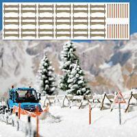 BUSCH HO SCALE 1/87 SNOW FENCE WITH POSTS | BN | 1120