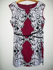 Womens Plus Size 22W Clothes Sophisticated Stretch Belted Dress NWT $80 Voir