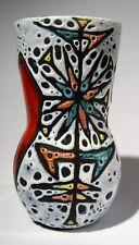 Vallauris Vase Strukturglasur H. 18,5 cm 1970er Jahre Frankreich