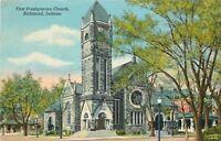 Richmond Indiana~First Presbyterian Church~1945 PC