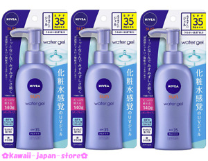 NIVEA SUN Protect Water Gel Sun Screen Pump SPF35 PA+++ 140g x 3 lot from Japan