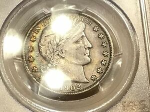 1902 Barber Half PCGS XF 45 FREE SHIPPING!!! GREAT COIN!!! RAINBOW TONING!!!