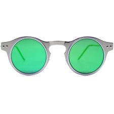 "NEW SPITFIRE Silver/Green ""MACHINA"" Retro Flat Lens Sunglasses -SALE"