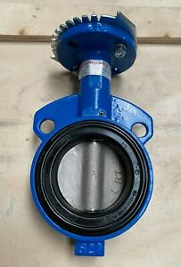 "3"" Wafer Butterfly Valve, Ductile Iron Disc, Buna Seat 200 PSI W/ Handle (NEW)"