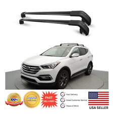 Top Roof Rack For Hyundai Santa Fe Sport 13 - 18 Baggage Luggage Cross Bar Black