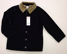 NWT Gymboree Aviator School Size S 5-6 Fleece Lined Navy Blue Barn Jacket