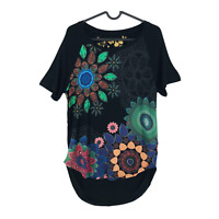 Desigual TS KAREN REP Black Blouse T Shirt Top Size XS S M