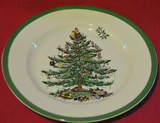 "SPODE CHRISTMAS TREE 8""  SALAD PLATE w/ GREEN BORDER (MSRP=$34.00) NEW"