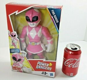 """Mega Mighties Power Rangers PINK RANGER 10"""" Action Figure Playskool Heroes NEW"""