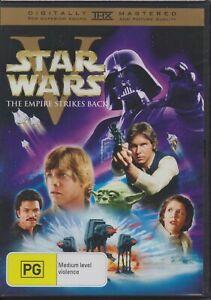 STAR WARS V THE EMPIRE STRIKES BACK DVD REGION 4 NEW AND SEALED