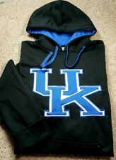 NCAA KENTUCKY WILDCATS-Black Jersey Knit Poly, Mens Logo Hoodie Sweatshirt-(M)