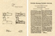 1868 BURIED ALIVE COFFIN US Patent Art Print READY TO FRAME!!! bell alert Casket