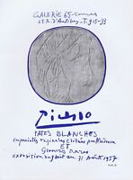 Picasso,Galerie 65 Cannes Pates Blanches 1957 Vintage Poster 1964 Platesigned