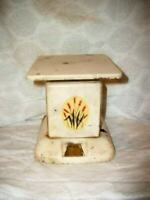 1930s  KITCHEN SCALE CREAMY CHIPPY RUSTY ORIGINAL DECAL FRENCH FARMHOUSE