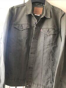 Levis Big E Premium Heavy Duty Denim Jacket Olive Xxl
