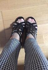 GIVENCHY sandalo intrecciato pelle spazz/nero [37,5]-80% black leather décolleté