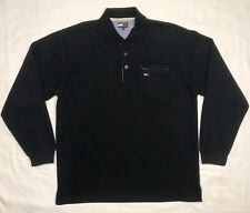 Vtg 90s Tommy Hilfiger Flag Mens 2XL Black Pullover Polo Sweater A4